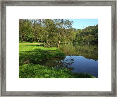 Lake Reflections Framed Print by Jenny Rainbow