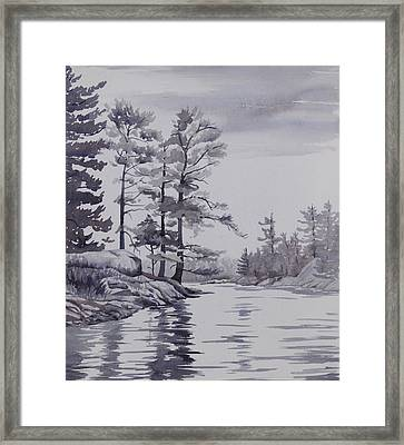 Lake Reflections Monochrome Framed Print by Debbie Homewood