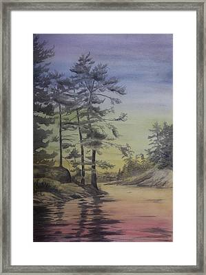 Lake Reflections Prismatic Framed Print by Debbie Homewood