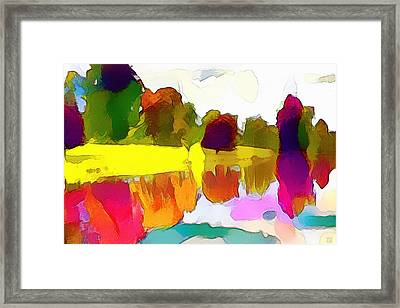 Lake Reflections Framed Print by Roger Smith