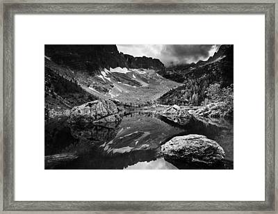 Framed Print featuring the photograph Lake Reflections by Yuri Santin