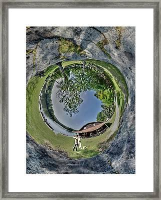 Lake Rock Framed Print by Christopher Blake
