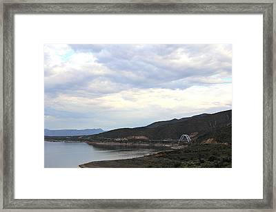 Lake Roosevelt Bridge 1 Framed Print