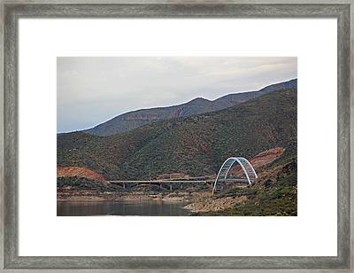 Lake Roosevelt Bridge 2 Framed Print