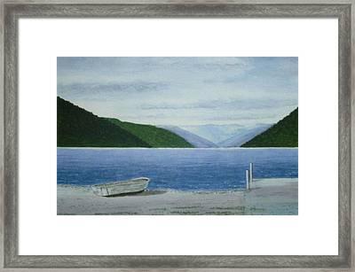 Lake Rotoroa, South Island, New Zealand Framed Print by Peter Farrow