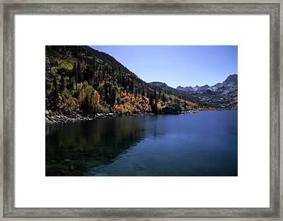 Lake Sabrina Fall Color Framed Print by Don Kreuter