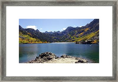 Lake Sabrina In Fall Colors Framed Print