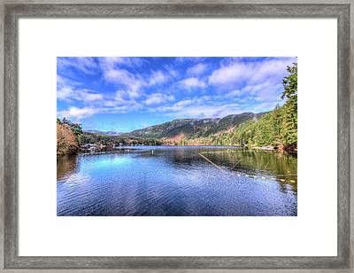 Framed Print featuring the photograph Lake Samish by Spencer McDonald