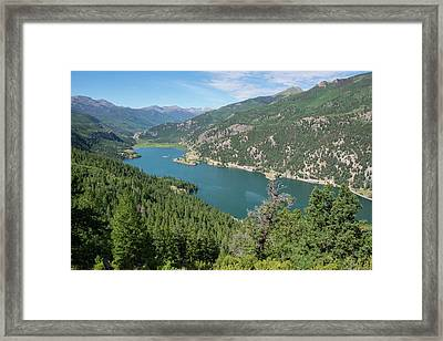 Framed Print featuring the pyrography Lake San Cristobal by Aaron Spong