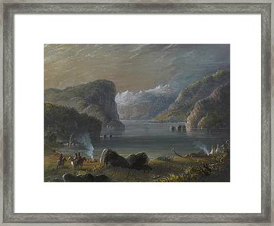 Lake Scene Framed Print by Alfred Jacob Miller