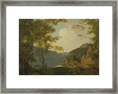 Lake Scene Framed Print by Joseph Wright