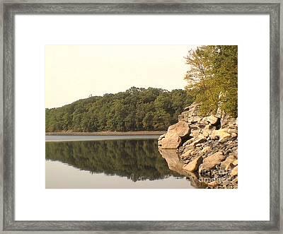 Lake Scranton Reflections Framed Print by Daniel Henning
