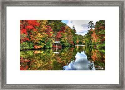 Lake Sequoyah Reflection Of Beauty Highlands North Carolina Art Framed Print by Reid Callaway
