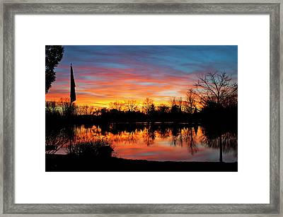 Lake Shangrila Framed Print