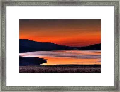 Lake Sherburne Framed Print by Mark Kiver