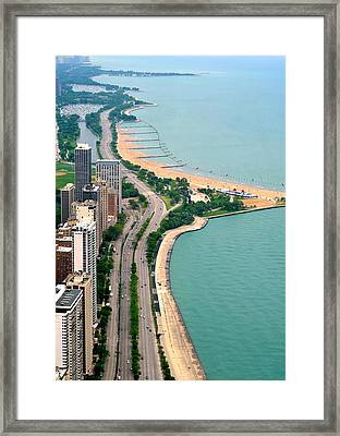 Lake Shore Dr . Chicago Framed Print