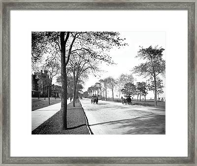 Lake Shore Drive - Chicago 1905 Framed Print by Daniel Hagerman