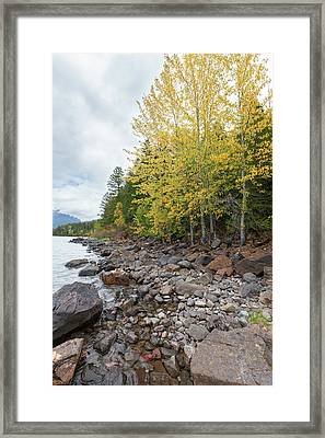 Framed Print featuring the photograph Lake Shore by Fran Riley