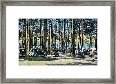 Lake Shore Park - Gilford N H Framed Print