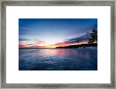 Framed Print featuring the photograph Lake Shot by Robert Clifford