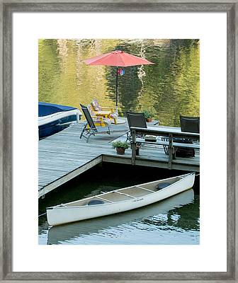 Lake-side Dock Framed Print