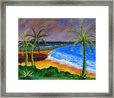 Lake Side Park Framed Print
