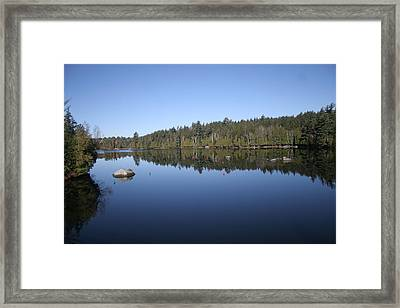 Lake Side View Framed Print by Kate  Leikin