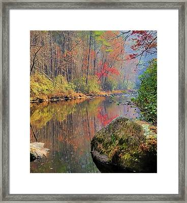 Framed Print featuring the painting Chattooga Paradise by Steven Richardson