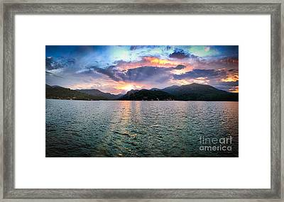 Lake Solstice Framed Print