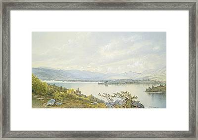 Lake Squam And The Sandwich Mountains Framed Print by William Trost Richards