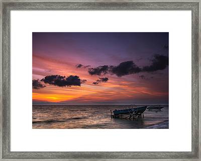Lake St. Clair Sunrise Framed Print