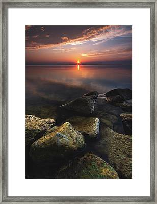 Lake St. Clair Sunstar Framed Print by Cale Best