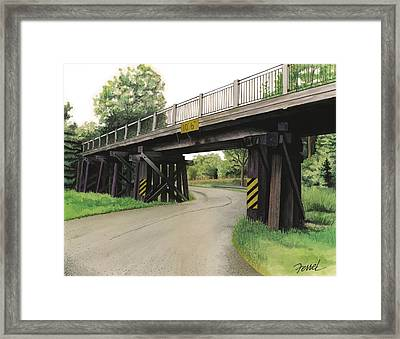 Framed Print featuring the painting Lake St. Rr Overpass by Ferrel Cordle