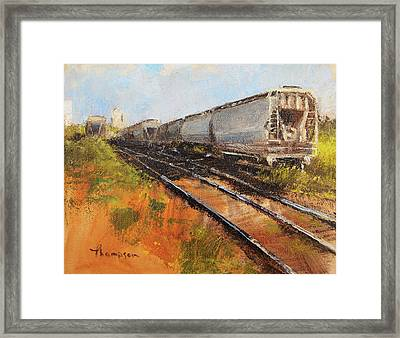 Lake Street Freight Cars Framed Print by Tracie Thompson