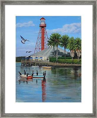 Lake Sumter Lighthouse Framed Print by Leda Rabenold
