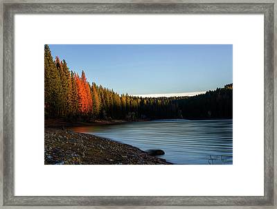 Lake Sunrise  Framed Print