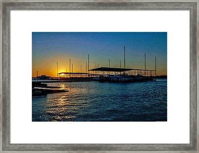 Lake Sunset Framed Print by Dado Molina