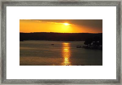 Lake Sunset  Framed Print by Don Koester