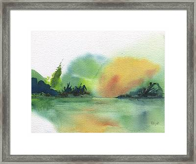 Lake Sunset Framed Print by Frank Bright