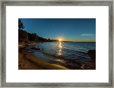 Lake Sunset Framed Print by Jack R Perry