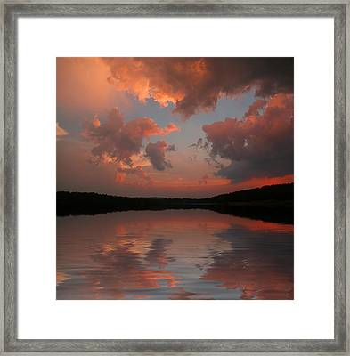 Framed Print featuring the photograph Lake Sunset by Rick Friedle