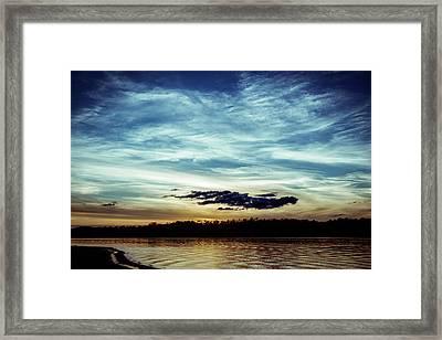 Lake Sunset Framed Print by Scott Meyer