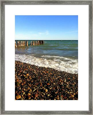 Lake Superior At Whitefish Point Framed Print