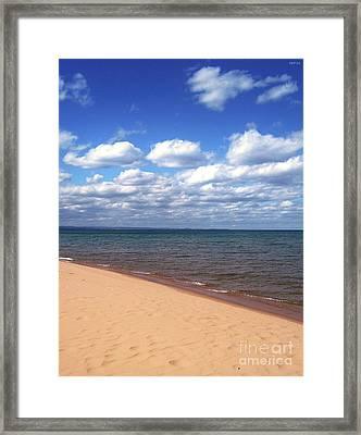 Lake Superior In Summer Framed Print
