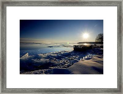 Lake Superior In Winter Framed Print