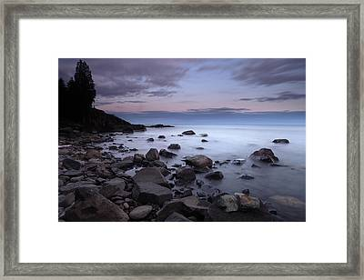 Lake Superior Shore Framed Print by Eric Foltz