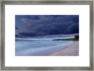 Lake Superior Shoreline Framed Print by Eric Foltz