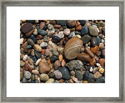 Lake Superior Stones Framed Print by Don Newsom