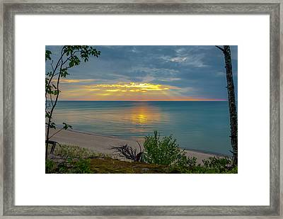 Lake Superior Sunset Framed Print