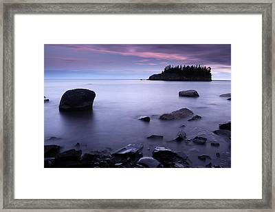 Lake Superior Twilight Framed Print by Eric Foltz